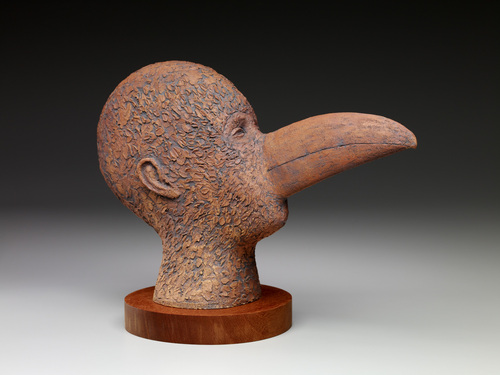 MAN WITH A TOUCAN MASK by norman holen