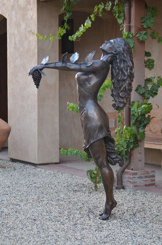 GODDESS OF THE GRAPES by deb zeller